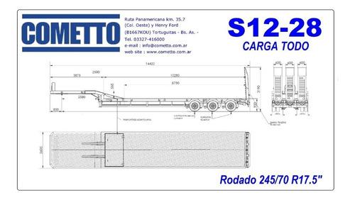 semirremolque carretón  modelo s12-28 carga todo de 3 ejes.
