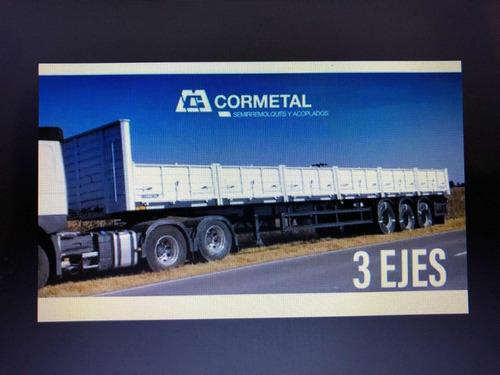 semirremolque cormetal okm,3 ejes,nueva configuración.52.5tn