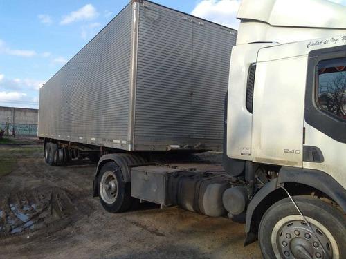 semirremolque furgón paquetero  de 13,50 m de largo