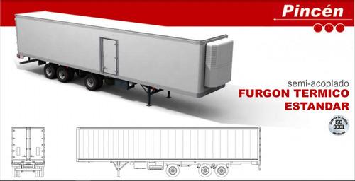 semirremolque furgon termico standar pincen 0km 14,70 2+1