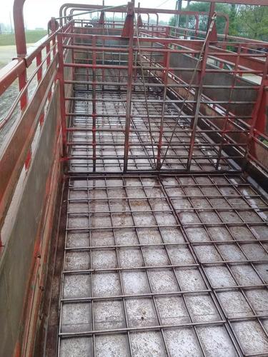 semirremolque (jaula) - 16mt de largo - ejes distanciados