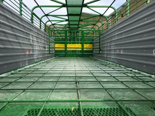 semirremolque jaula hacienda. 2 ejes