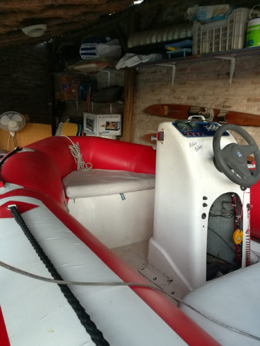 semirrígido 4,30 mts. equipado. ideal para motor 40 o 50hp.
