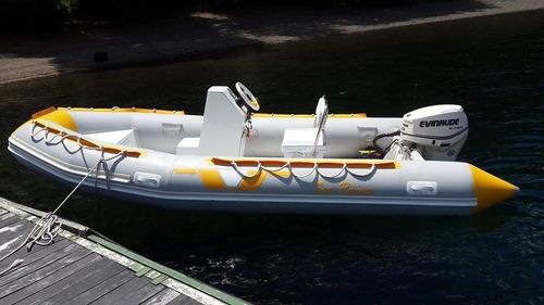 semirrigido 460 pescador con suzuki 40 hp todo cero hs 2020
