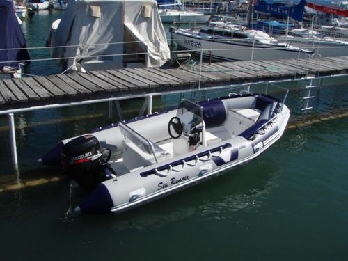 semirrigido 460 sea runner c/ suzuki 40 hp todo cero hs 2020