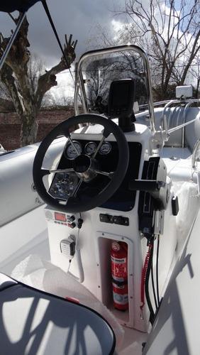 semirrigido 4.80 con motor 40 hp - astillero tozzoli