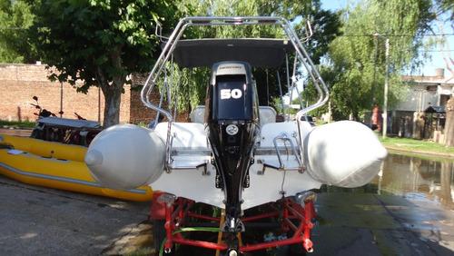 semirrigido 4.80 con motor 50 hp 2t - astillero tozzoli