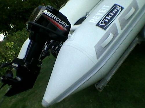 semirrigido  4.90 viking - mercury  60 hp big foot