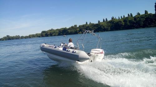 semirrigido 490 vmarine nuevo motor 60 hp evinrude etec 2020