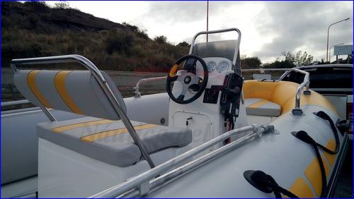 semirrigido 5 mts kiel equipado motor ecologico evinrude 60