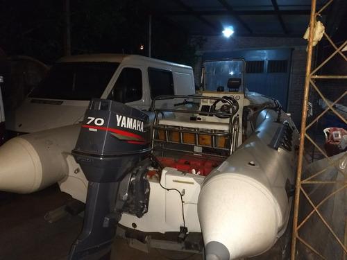 semirrigido 520 c/ yamaha 70 con 90hs. de uso