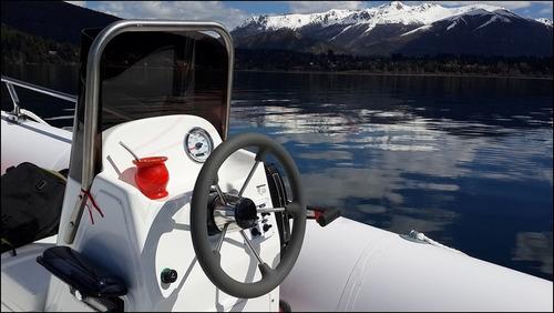 semirrigido 560 ideal mar con 75 hp mercury full 2t cero hs