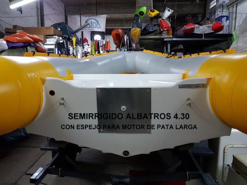 semirrígido albatros 4.30 salpicado 0km nuevo 2021 el pique
