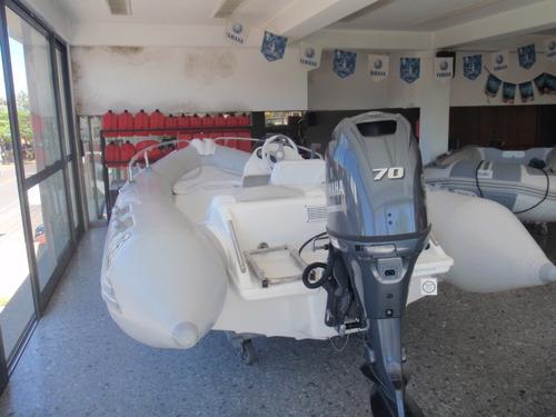 semirrigido autonautica 470 con yamaha 70 hp 4 tiempos nuevo