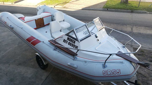 semirrigido baab 550 cabinado impecable 2014 nautica milione