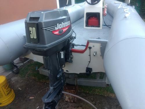 semirrigido baab sr-4.20 johnson 30hp, trailer perfil c
