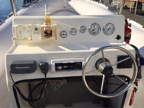 semirrigido baader 690 con evinrude etec 150 hp v6 año 2016