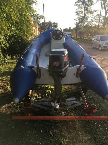 semirrígido bim 4.30 c/ tohatsu 40 hp