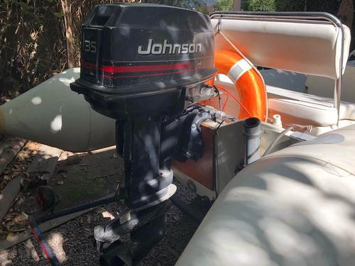 semirrigido bim 4,30 motor johnson 35 hp 2t