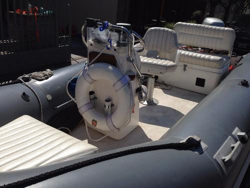 semirrigido callegari  inmaculado full - honda 50 hp- no bim