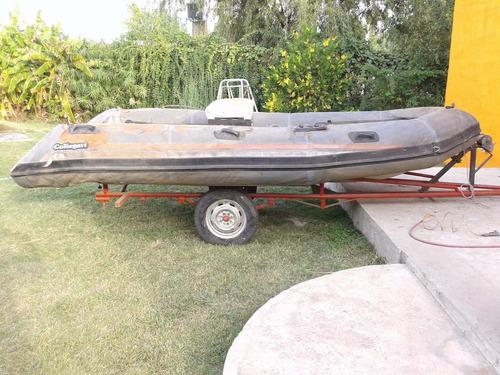 semirrigido callegari  ocean 41 con trailer