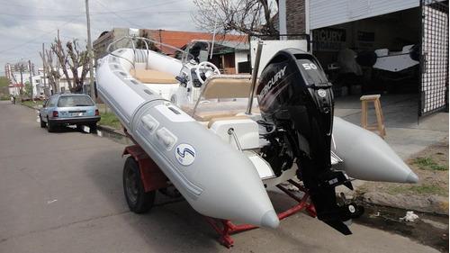 semirrigido completo con motor 40 hp - astillero tozzoli