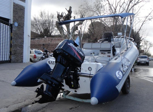 semirrigido con motor 40 hp mercury - astillero tozzoli