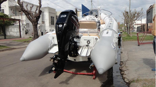 semirrigido con motor 50 hp - astillero tozzoli
