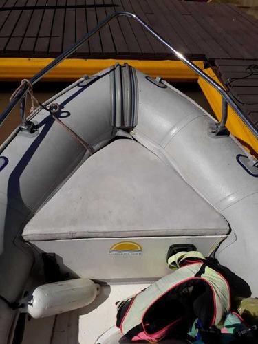 semirrigido delta marine 3.50 mts. con johnson 15 hp 2 tiemp