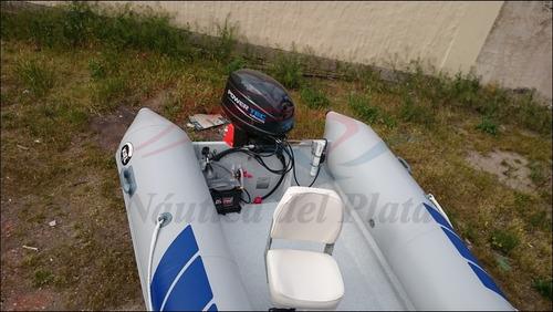 semirrigido gomon pescador cero hs con motor 40 hp 2018 0km