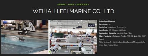 semirrigido hifei coralsea hsr 270 7.5 hp aluminio bote
