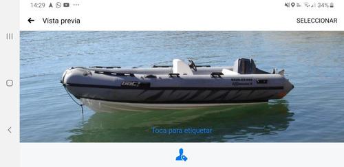 semirrigido hypalon 4,60 c/ 40 hp - impecable