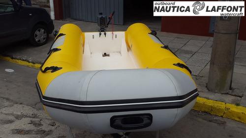 semirrigido kiel 360 c/ motor f borda yamaha náutica laffont