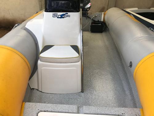 semirrigido kiel 4,6 m con trailer