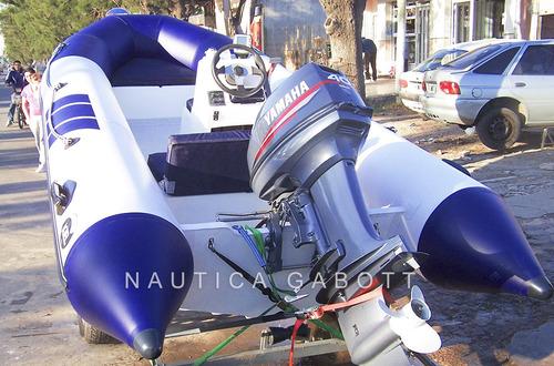 semirrigido kiel 460 con motor yamaha 40 hp completo nuevos