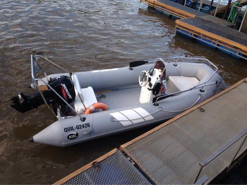 semirrigido kiel 4,60 mercury 40 hp permuto