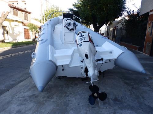 semirrigido kiel 500 2018 evinrude 60 hp eco nautica milione