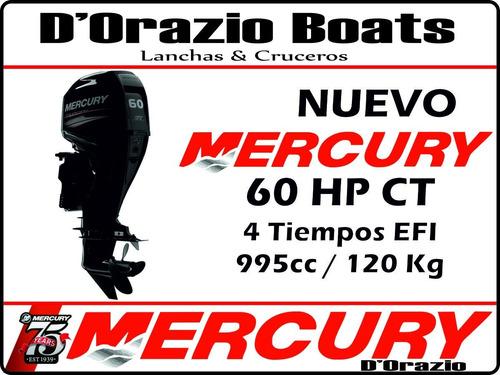semirrigido kiel 500 matrizado + motor mercury 60 hp 4t efi