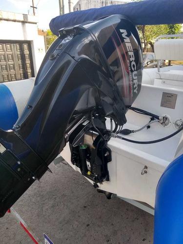 semirrigido kiel 5.60  motor mercury 60 hp y trailer