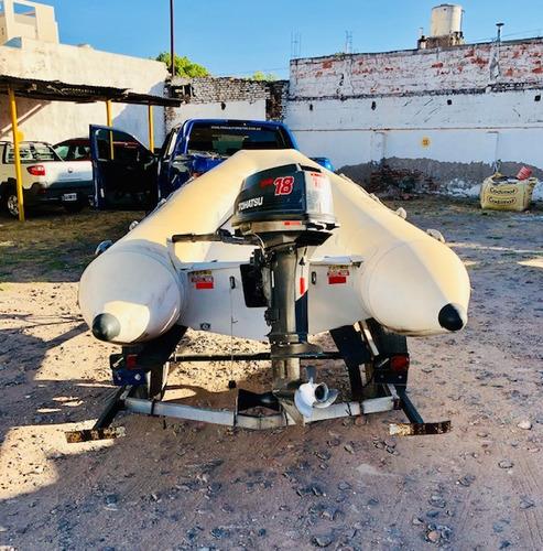 semirrigido kiel + motor+ trailer y accesorios oportunidad!!