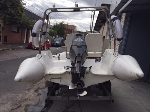 semirrigido moon año 2011 c/motor johnson 40hp $155.000!!!