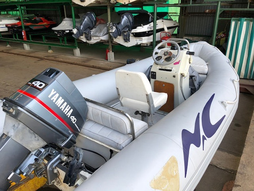 semirrigido n y c autonautica 430 con yamaha 40 hp 2 tiempos