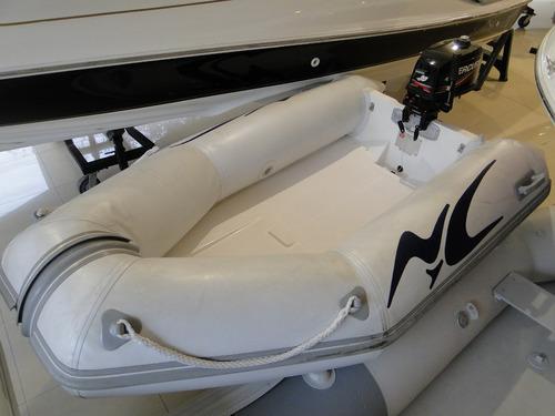 semirrigido n y c con motor mercury 5 hp