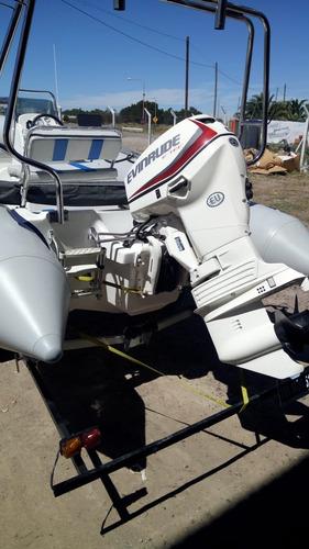 semirrigido nuevo 490 vmarine con mercury 4t de 50 hp 2020