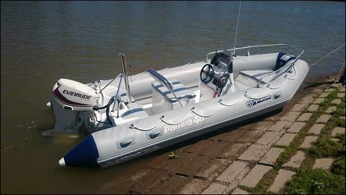semirrígido pampa 48 nuevo equipado motor mercury 40 hp 4t