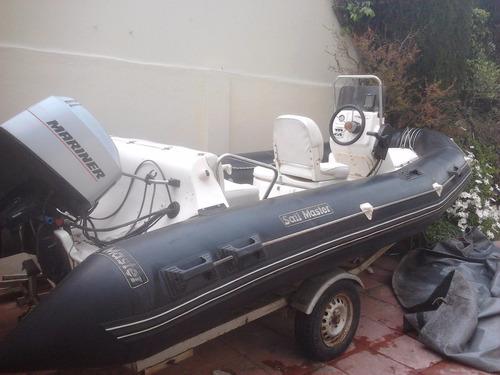 semirrigido sail master 5 mts. con motor mariner 50 hp.