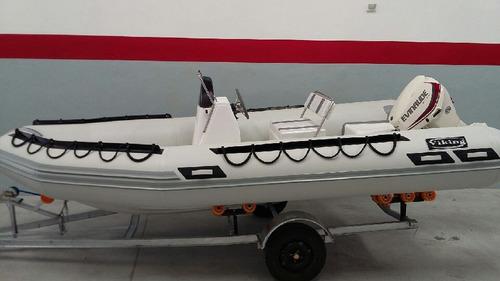 semirrigido viking 4,9 mts con mercury 40 hp 4 tiempos  full
