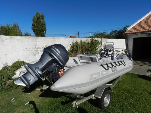 semirrigido viking 4,9 mts con yamaha 50 hp 4 tiempos okm