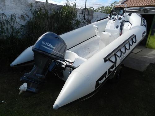 semirrigido viking 5,2 con yamaha 60 hp 4 tiempos equipazooo
