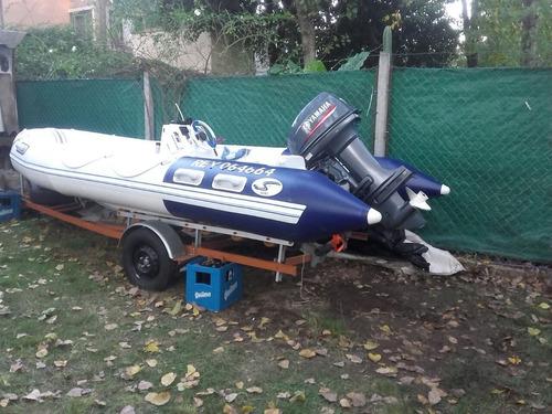 semirrigo tozzoli motor yamaha 40 hp power trim + trailer